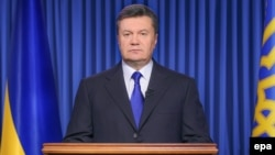 Соборениот украински претседател Виктор Јанукович.