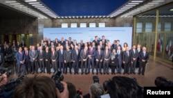 المشاركون في مؤتمر برلين الدولي 28 تشرين الاول 2014