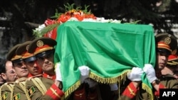 File photo of the funeral of first Afghan peace council head Burhanuddin Rabbanil in 2011.
