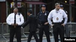 Полиција ја обезбедува зградата на ОН за време на Генералното собрание.