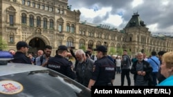 Задержание на Красной площади в Москве