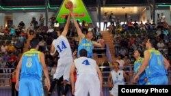 مباراة بكرة السلة بين دهوك والحلة
