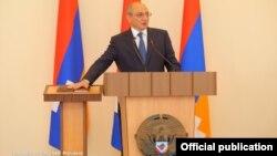 Церемония инаугурации переизбранного президента Нагорного Карабаха Бако Саакяна, Степанакерт, 7 сентября 2017 г.