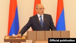 Bako Sahakian, the leader of Azerbaijan's breakaway region of Nagorno-Karabakh. (file photo)
