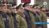 Милиция и военные на инструктаже по мобилизации