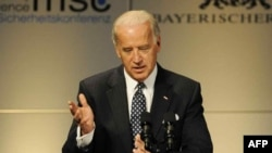 U.S. Vice President Joe Biden speaks to the Munich Security Conference.