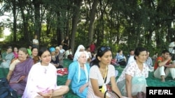 Members of the Society of Krishna Consciousness in Almaty