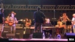 """Генерална проба за големиот концерт по повод Денот на независноста на Националната арена """"Филип Втори""""."""