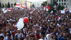 """Кет!"" 200 мыңнан аса адам Лукашенконың отставкасын талап етті"