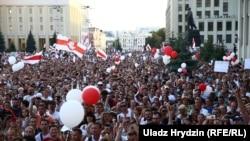 Pamje nga protestat e 16 gushtit në Bjellorusi.