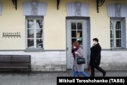 Закрывшийся ресторан на Тверской улице в Москве