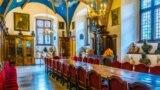 Заля паседжаньняў (Collegium Maius) Кракаўскага ўнівэрсытэту.