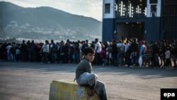 Izbeglice na ostrvu Lezbos, argivska fotografija