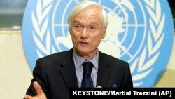 ادریس جزایری، گزارشگر ویژه سازمان ملل