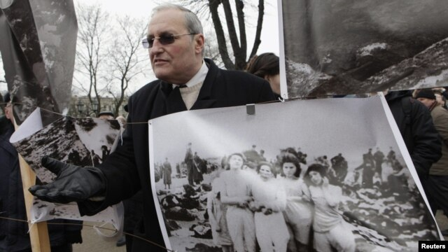 "The Simon Wiesenthal Center's Efraim Zuroff says there is an ongoing effort to whitewash ""the extensive, extremely important collaboration [with the Nazis] of the peoples of Eastern Europe."""