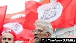 Эдуард Лимонов на одной из последних акций в Москве
