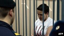 Украинская летчица Надежда Савченко в суде Москвы. 11 ноября 2014 года.