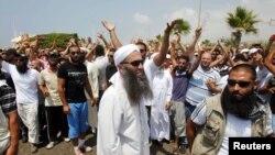 شيخ احمد الاسير در تظاهرات روز جمعه