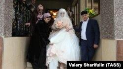 Чечня, свадьба, архивное фото