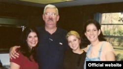 Former FBI agent Robert Levinson (second from left) with his family
