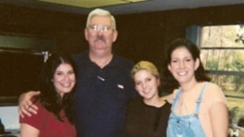 Former FBI agent Robert Levinson, pictured with his family