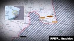 Линия обороны украинской армии в районе Дебальцево, 2015 год