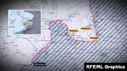Линия обороны украинской армии в районе города Дебальцево, иллюстрационное фото