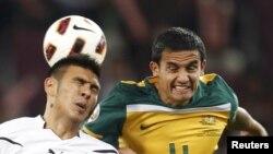 صحنه ای از بازی استرالیا و ازبکستان