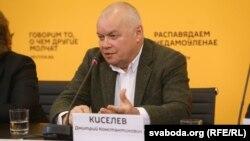 Генеральный директор государственного агентства «Россия сегодня» Дмитрий Киселев. Минск, 7 апреля 2016 года.