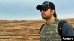 Iranian-American Amir Mirza Hekmati, who has been sentenced to death by Iran's Revolutionary Court on a charge of spying for the CIA.