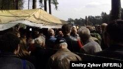 Народный сход активистов-экологов в Цаговском лесу