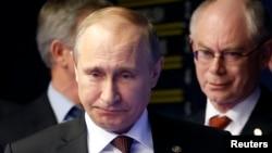 Президент Росії Володимир Путін і голова Європейської ради Герман Ван Ромпей
