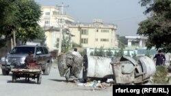گوشۀ از شهر کابل