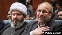 Former mayor of Tehran Qalibaf and his religious sidekick Gholam Reza Qassemian. FILE PHOTO