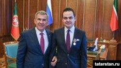 Рөстәм Миңнеханов һәм Турхан Дилмач