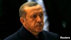 Թուրքիայի վարչապետ Ռեջեփ Էրդողանը Անկարայի օդանավակայանում՝ Բրյուսել մեկնելուց առաջ, 20-ը հունվարի, 2014թ․