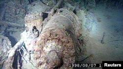 "Часть обломков ""Титаника"" на дне океана"
