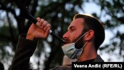 Antivladin protest ispred Predsedništva u Beogradu