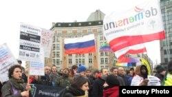 Протесты в Брюсселе перед саммитом Россия – ЕС
