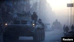 Ushtarët rusë në Alepo të Sirisë, foto nga arkivi