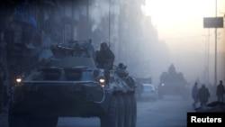 Российский военный патруль (Алеппо, февраль 2017 года)