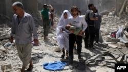 Алеппо, Сирия, 29 апреля 2016 года.
