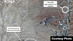 تصویر ماهوارهای از سایت نظامی پارچین در حومه تهران