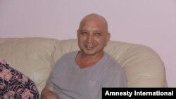 Эркин Мусаев после освобождения из колонии. Фото: Amnesty International.