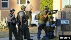 Policia në Kaliforni gjatë aksionit ku janë vrarë dy sulmuesit