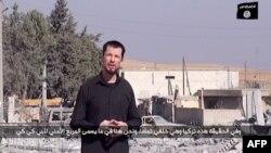 Ұлыбританиялық тұтқын Джон Кэнтлидің Кобаниден жасаған репортажынан көрініс. (Көрнекі сурет)