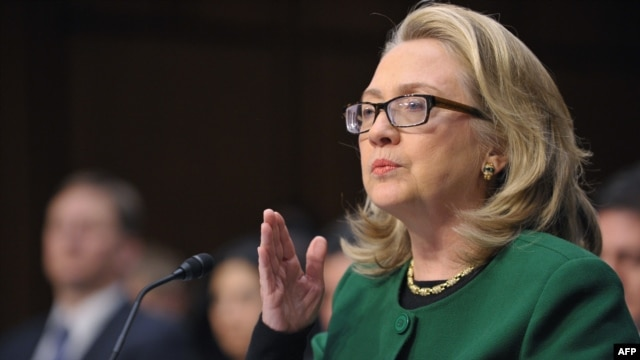 U.S. Secretary of State Hillary Clinton testifies before the Senate Foreign Relations Committee about the September 11, 2012, attack on the U.S. mission in Benghazi, Libya, in Washington on January 23.