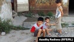 Anbara sığınmış köçkün ailələrin uşaqları