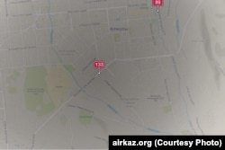 Алматы қаласы ауасының құрамындағы қауіпті заттар көрсеткіші. Airkaz.org сайтынан алынған скриншот.