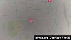 Показатели вредных веществ в воздухе Аламты. Скриншот с сайта airkaz.org.